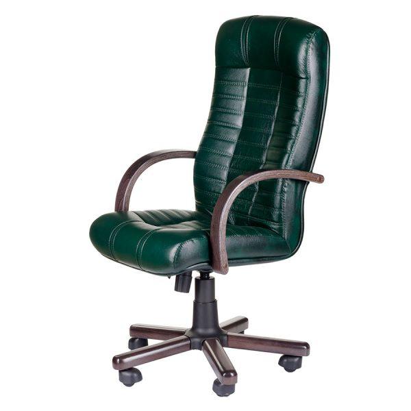 Компьютерное кресло руководителя Атлант Чёрное (вид 4)