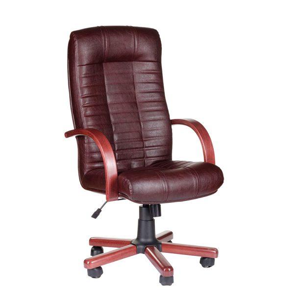 Компьютерное кресло руководителя Атлант Коричневое