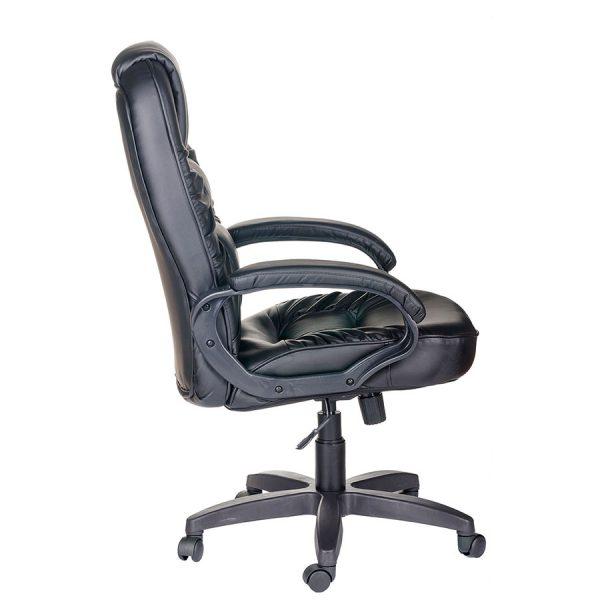 Компьютерное кресло руководителя Бруно Ультра Чёрное (вид 2)