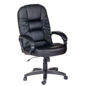 Компьютерное кресло руководителя Бруно Ультра Чёрное