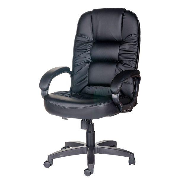 Компьютерное кресло руководителя Бруно Ультра Чёрное (вид 4)
