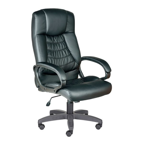 Компьютерное кресло руководителя Хилтон Ультра Чёрное (вид 2)