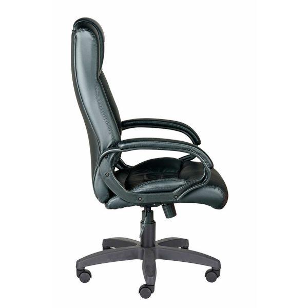 Компьютерное кресло руководителя Хилтон Ультра Чёрное (вид 3)
