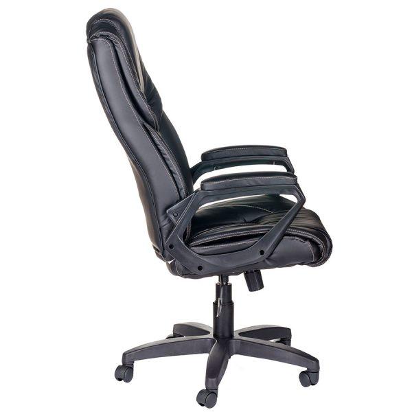 Компьютерное кресло руководителя Одиссей Ультра Чёрное (вид 2)