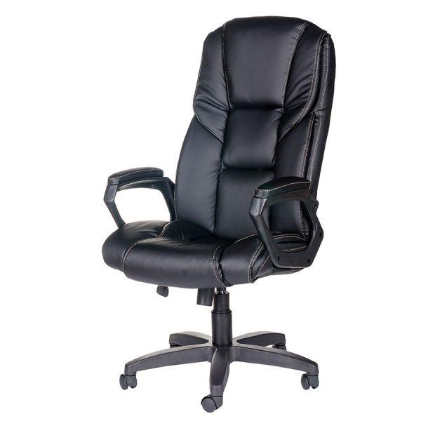 Компьютерное кресло руководителя Одиссей Ультра Чёрное (вид 4)