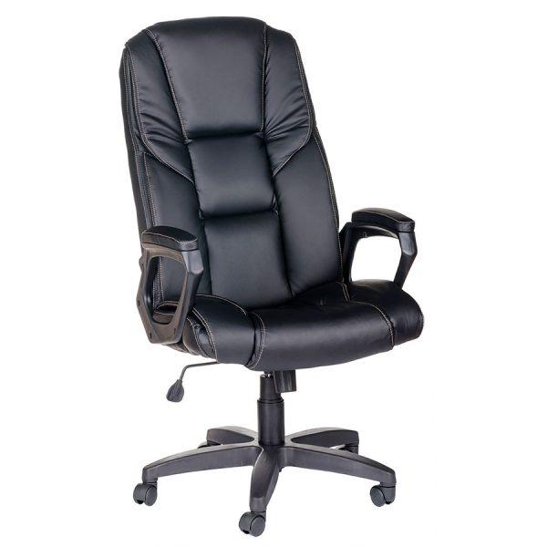 Компьютерное кресло руководителя Одиссей Ультра Чёрное