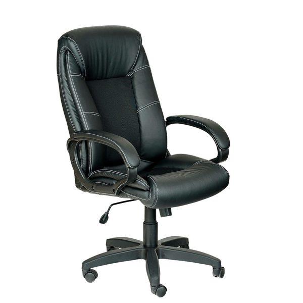 Компьютерное кресло руководителя Оптима Ультра Черное (вид 2)
