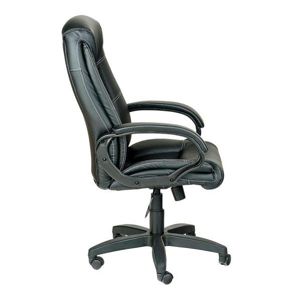 Компьютерное кресло руководителя Оптима Ультра Черное (вид 3)