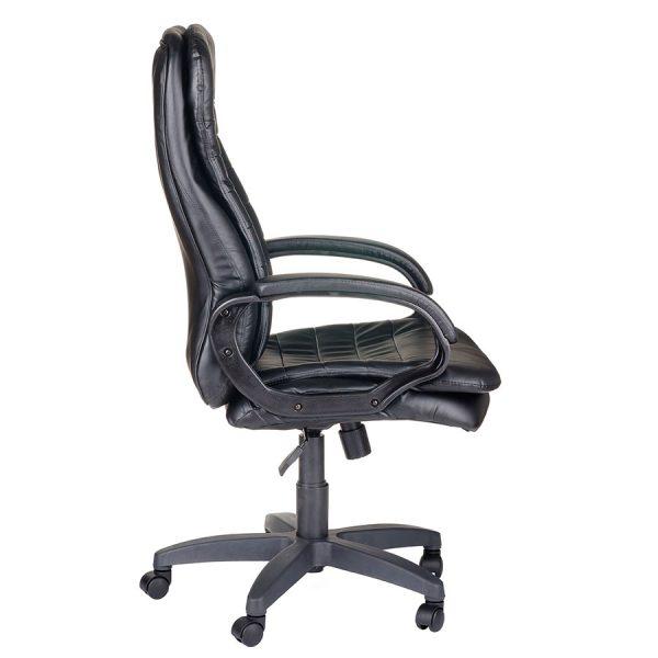 Компьютерное кресло руководителя Силуэт Ультра Чёрное (вид 2)