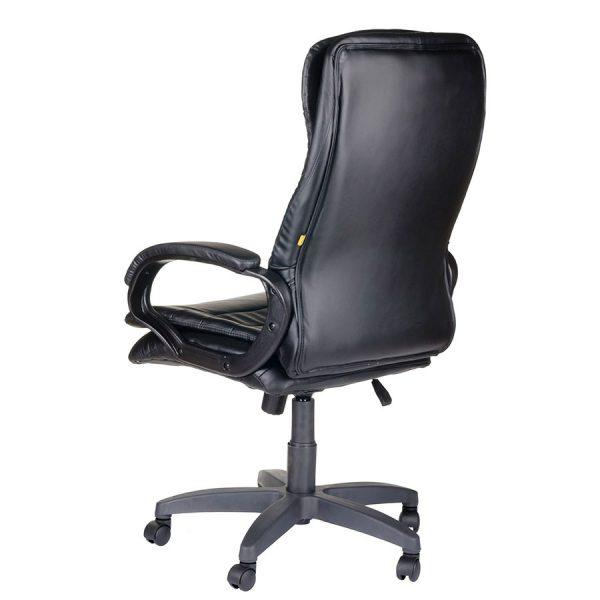 Компьютерное кресло руководителя Силуэт Ультра Чёрное (вид 3)