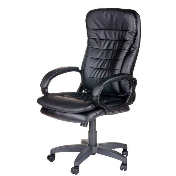 Компьютерное кресло руководителя Силуэт Ультра Чёрное (вид 4)