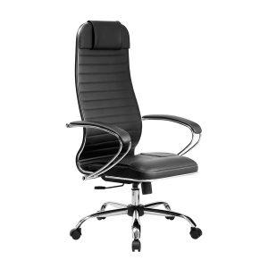 Компьютерное кресло руководителя SU-1-BK Комплект 6 Черное Хром