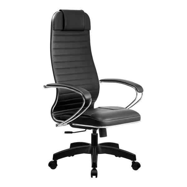 Компьютерное кресло руководителя SU-1-BK Комплект 6 Чёрное Пластик