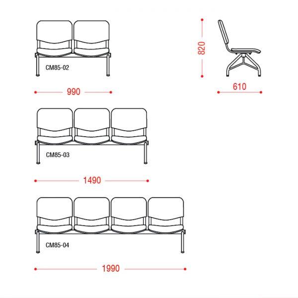 Многоместное кресло Дали