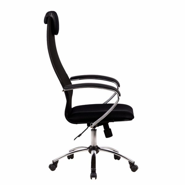 Компьютерное кресло руководителя Галакси-Лайт SU-BK-8 Ch (вид 2)